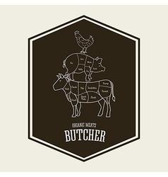 Butcher menu vector