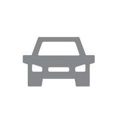 car icon vehicle automobile symbol and vector image