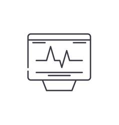 Cardiovascular check line icon concept vector