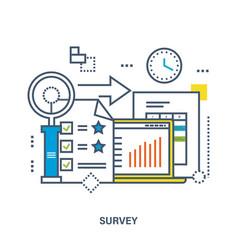 Concept survey vector