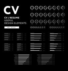 creative cv design - curriculum vitae useful vector image