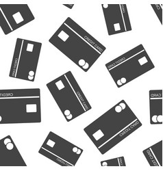 credit card seamless pattern background business vector image