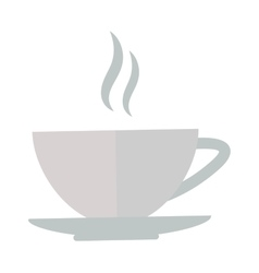 Cup coffee front view vector
