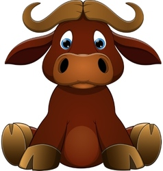 cute baby calf vector image