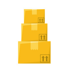 delivery box cardboard vector image