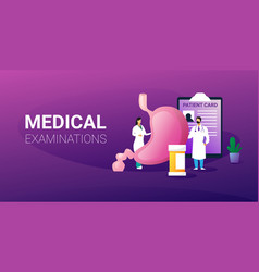 doctors examining human digestive tract system vector image