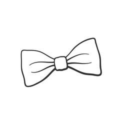 doodle retro bow tie vector image
