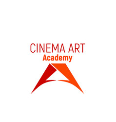 emblem for cinema academy vector image