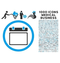 Empty Calendar Day Icon with 1000 Medical Business vector image