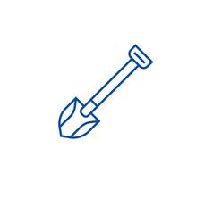 farming shovel line icon concept farming shovel vector image