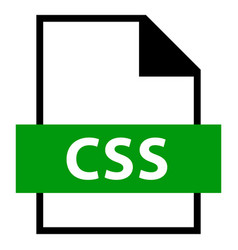 File name extension css type vector