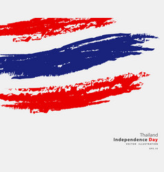 Flag thailand flag in grungy style vector