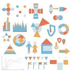 Flat icons set - infografic data vector image