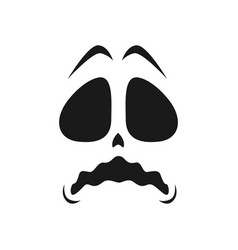 Frightened ghost face icon halloween emoji vector
