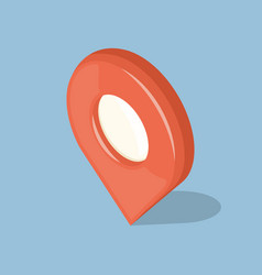 glossy red isolated pointer gps icon sign vector image