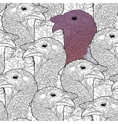Graphic turkey pattern vector