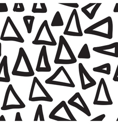 Hand-painted seamless pattern with triangle vector