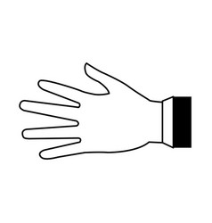 Hand silhouette draw vector