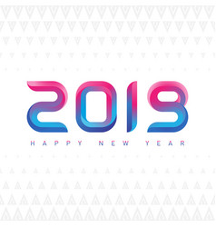 happy new year greeting card with modern shapes vector image