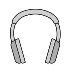 headset audio device icon vector image