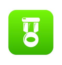 Hockey medal icon green vector