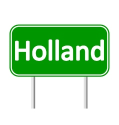 Holland road sign vector