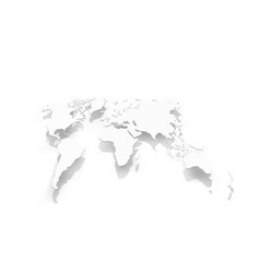 image of world map paper vector image