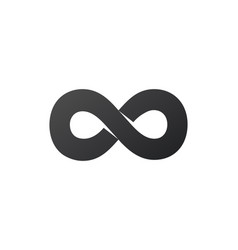 Infinity symbol or sign infinity icon limitless vector