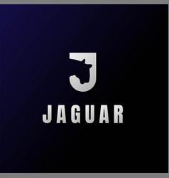 Initial letter j jaguar leopard tiger cheetah logo vector