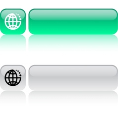Internet web button vector