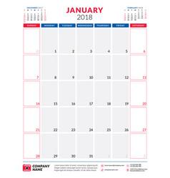 january 2018 template