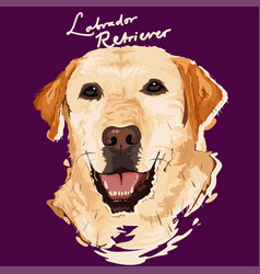 labrador retriever painting poster vector image