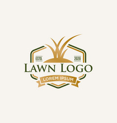 Lawn care logo design vector