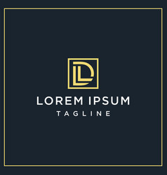 Ld or dl square logo vector