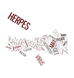 learn about herpes simplex you may get it text vector image