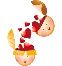 love fall vector image