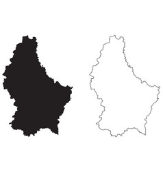 Luxembourg country map black silhouette vector