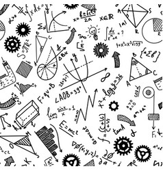 math chemistry and physical formules on white vector image