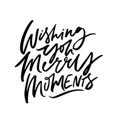 Merry moments lettering vector
