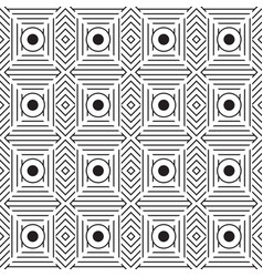 Monochrome geometric graphic pattern vector