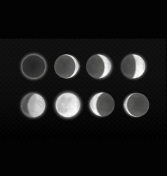 moon eclipse different phases astronomy vector image