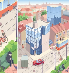 Old European city vector image