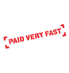 Paid very fast rubber stamp vector