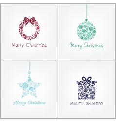 Perfect Christmas design for greetings card with w vector image
