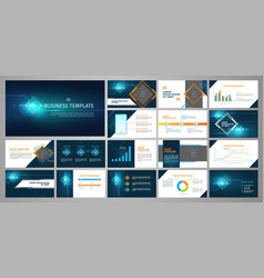 Presentation business banner template set vector