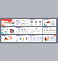 Presentation template slides with vector