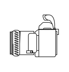 Professional photographic camera vector