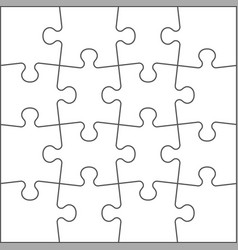 puzzle shape realistic jigsaw pieces blank vector image