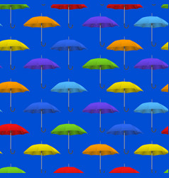 realistic detailed 3d color blank umbrella vector image