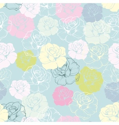 Rose flower decoration wallpaper background vector image